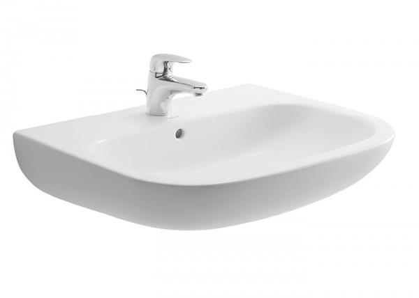 D-Code mosdó 65x50 cm, fehér, csaplyukkal - Kádak, szaniterek, zuhanykabinok - Fürdőszoba ...