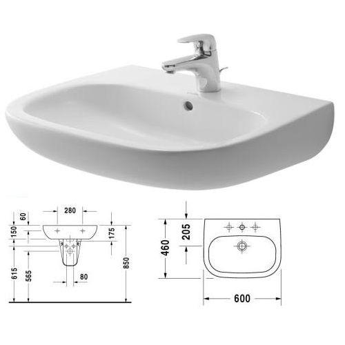 D-Code mosdó 60x46 cm, fehér, csaplyukkal - Kádak, szaniterek, zuhanykabinok - Fürdőszoba ...
